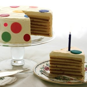 7 Layer Caramel Birthday Cake