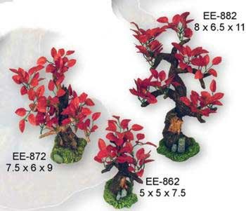 Bonsai Red Leaves Large Aquarium Ornament - 8