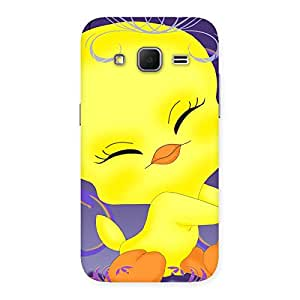 Delighted Yellow Tweet Back Case Cover for Galaxy Core Prime