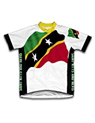 Saint Kitts And Nevis Flag Short Sleeve Cycling Jersey for Women