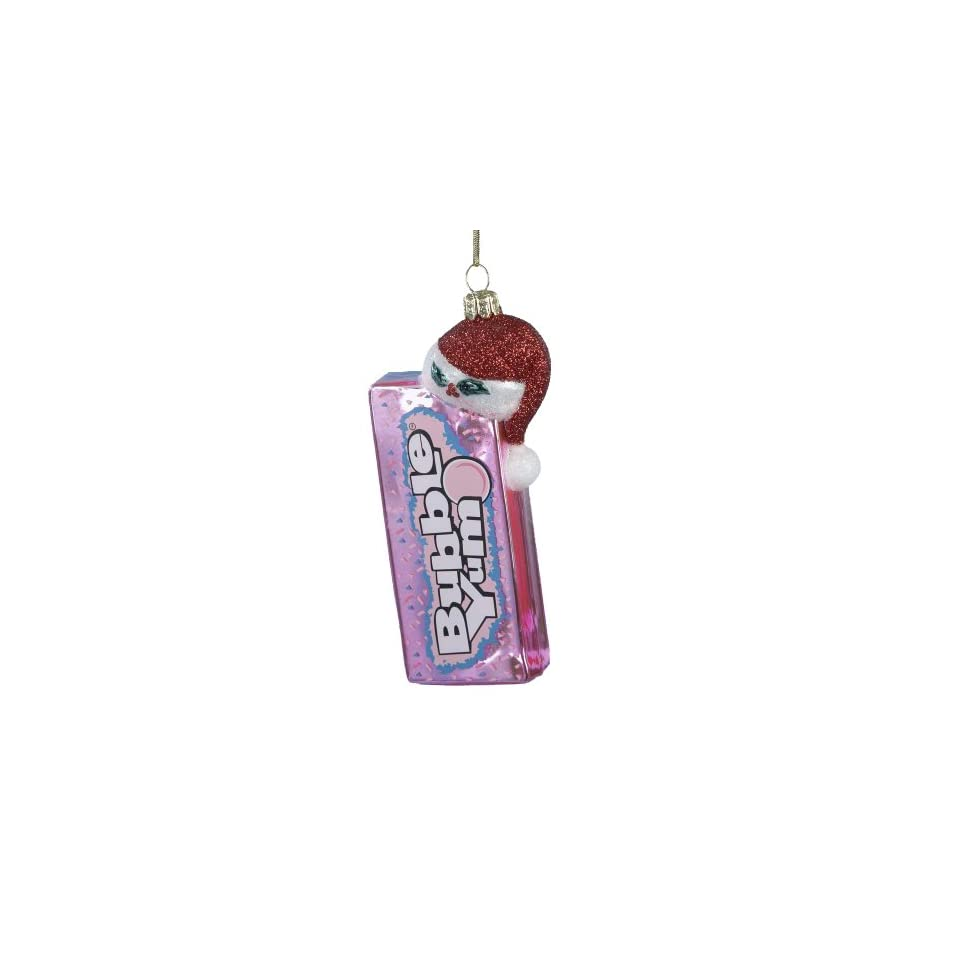 Kurt Adler HY0216 Glass Bubble Yum with Santa Hat Ornament