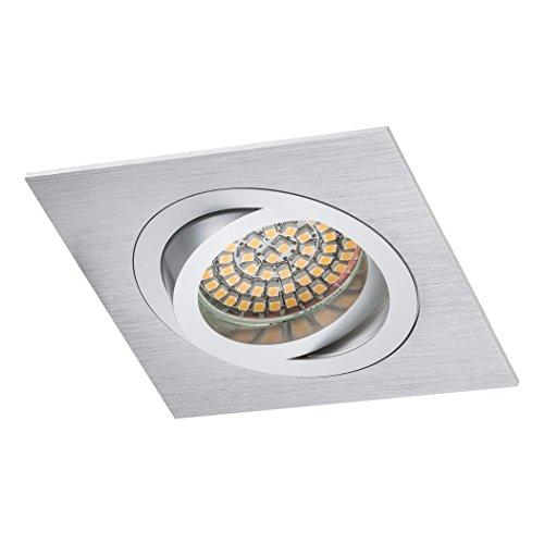 Sebson faretti da incasso quadrato, quadrato, argento/alluminio da ...