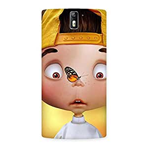 Impressive Confused Funny Boy Back Case Cover for One Plus One