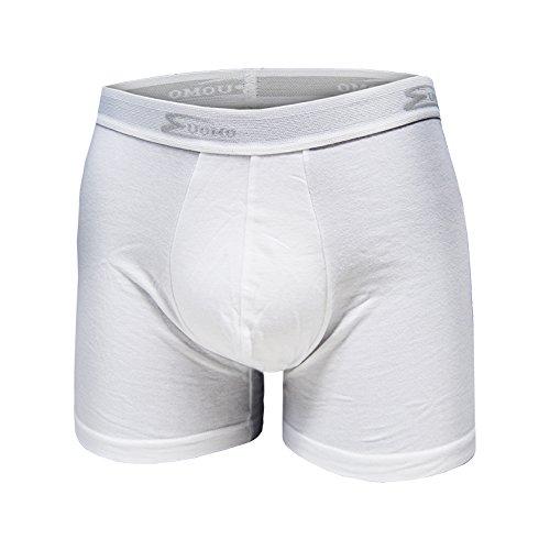 Set 6 Boxer Uomo COTONELLA Bianco / Nero Cotone Bielastico Art.2384 ( 6 Boxer Bianco - 7 / XXL)