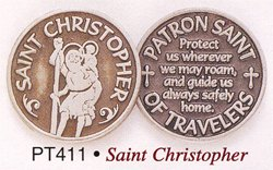 Cathedral Art PT411 Saint Christopher Pocket Token, 1-Inch