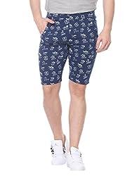 Glasgow Men's Cotton Shorts (NICK432_Blue_XX-Large)
