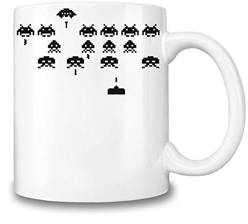Space Invaders Classic Tazza Coffee Mug Ceramic Coffee Tea Beverage Kitchen Mugs By Slick Stuff
