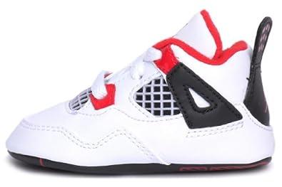 Buy Air Jordan Kids Crib 4 Retro (Gp) White Red Black 487219-110 4c by Jordan