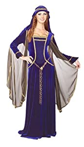 Rubie's Costume Deluxe Renaissance Faire Queen Costume, Blue, Large