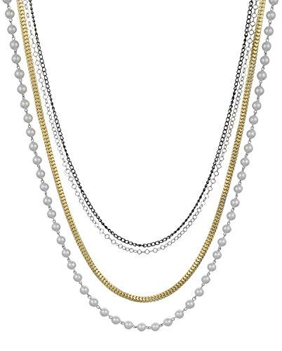 sempre-londres-europeenne-collection-chaine-et-perles-4-brins-collier-avec-chaine-plaque-trois-tons-