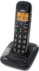 AEG Eole 1800B Schnurloses Eco Logic Großtastentelefon schwarz