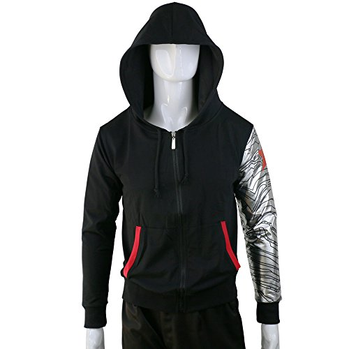 Winter Soldier Bucky Barnes Zipper Adult Unisex Hoodie