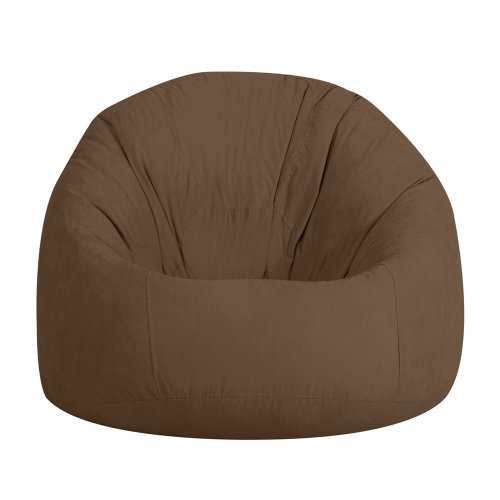 XXL Bean Bag - Extra Large Beanbag Chair CHOCOLATE Faux Suede