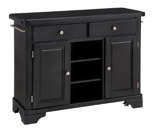 Cheap Home Styles Premium Create-a-Cart Kitchen Cart – Wood Top on Black Cabinet (9300-1041)