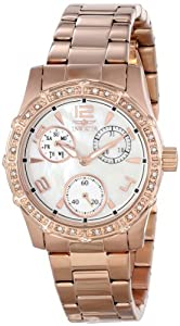 "Invicta Women's 16123 ""Angel"" 18k Rose Gold Ion-Plated Stainless Steel Watch"