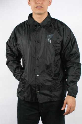Famous Stars and Straps - Mens Revved Up Windbreaker Jacket in Black, Size: Large, Color: Black