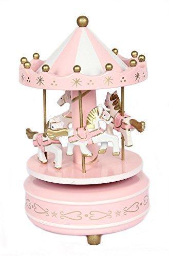 FreshGadgetz Karussell Spieluhr in Herzform / Spieldose / Geschenk für ein Kind