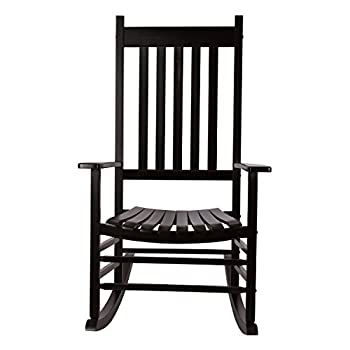 Shine Company 4332BK Vermont Rocking Chair, Black
