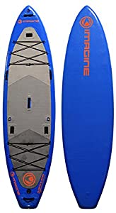 Imagine Surf COMPRESSOR/ANGLER Inflatable Stand Up Paddleboard, 11-Feet x 35 x 8-Inch, Blue from Pryde Group Americas