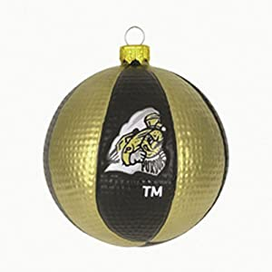 Purdue Boilermakers 3.5 Collegiate Glass Basketball Holiday Ornament - NCAA College Athletics