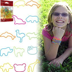 Groooovy Bandzzzz Shaped Rubber Bands - Zoo Animals - 24. Product Category: Toys & Games > Toys