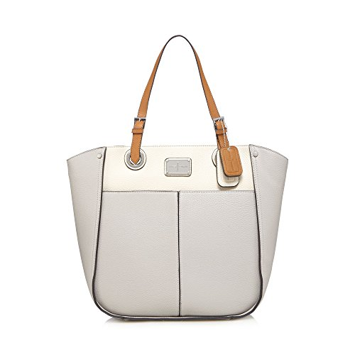 j-by-jasper-conran-womens-grey-enamel-plate-shoulder-bag