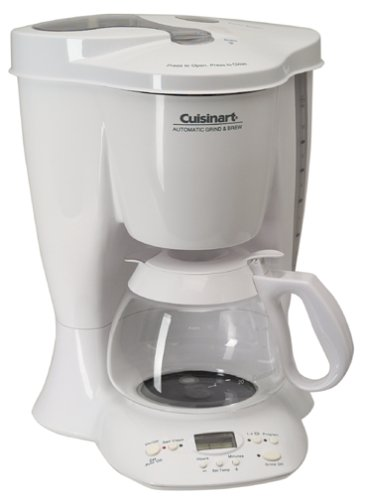 Cuisinart Automatic Grind And Brew Coffee Maker User Manual : Cuisinart DGB-300 Automatic Grind and Brew 10-Cup Coffeemaker, White www.cafibo.com
