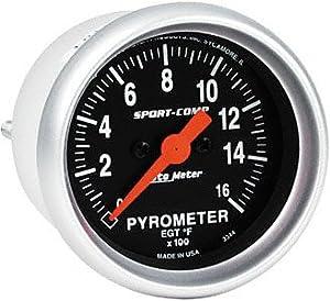 Auto Meter 3544 Sport-Comp Electric Pyrometer Gauge Kit