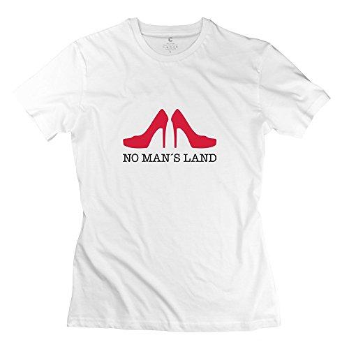 Ywt No Mans Land Female T-Shirt Pre-Cotton Funny White