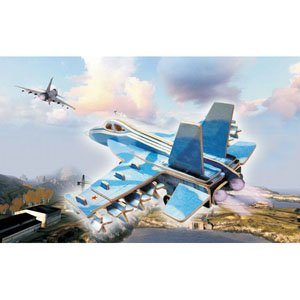 Puzzled Colorful Wood Craft Construction F18 Hornet 3D Jigsaw Puzzle