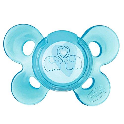 Chicco 72813210000 Physio Comfort Succhietto Silicone 4m+, 1 pezzo, Blu
