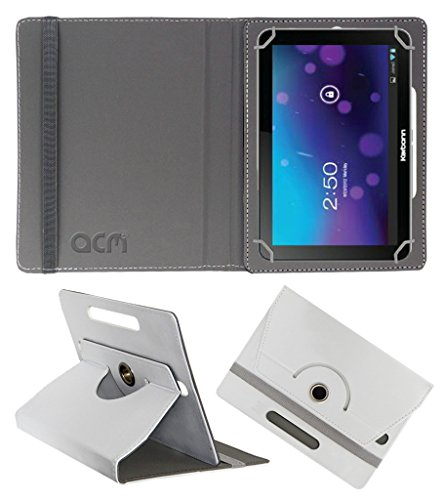 Acm Rotating 360° Leather Flip Case For Karbonn Smart Tab 7 Tornado Tablet Cover Stand White  available at amazon for Rs.149
