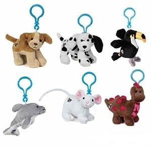 Webkinz Virtual Pets - Kinz Klips - JULY RELEASES (Set of 6) (Cocker Spaniel, Dalmatian, Toco Toucan, Dolphin, Mouse & Cocoa Dinosaur)