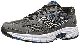 Saucony Men\'s Cohesion 9 Running Shoe, Grey/Black/Royal, 10 W US
