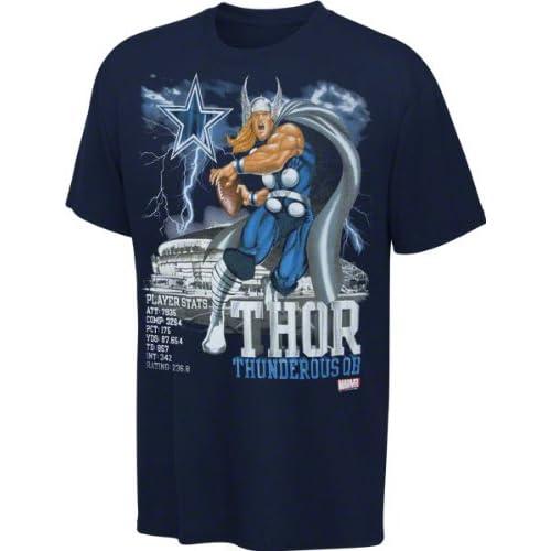 Amazon.com : Dallas Cowboys Navy Marvel Comics Thor Star Cover T-Shirt