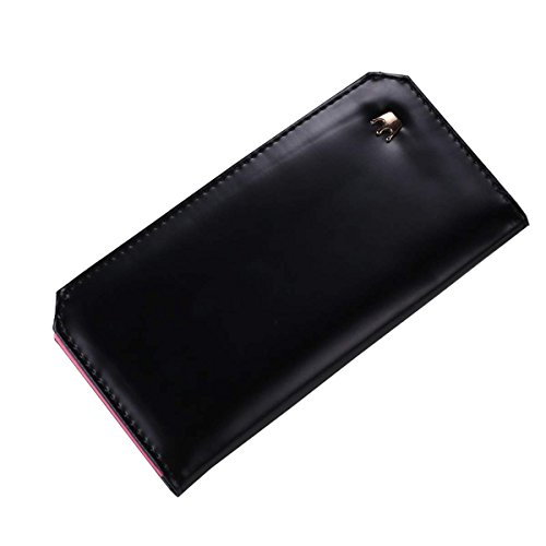 Zeagoo Women Faux Leather Solid Wallet Purse Clutch Bag Card Holder Bag
