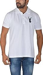 Le Beau Classics Men's Cotton Polo T-Shirts GR_003_ White_L