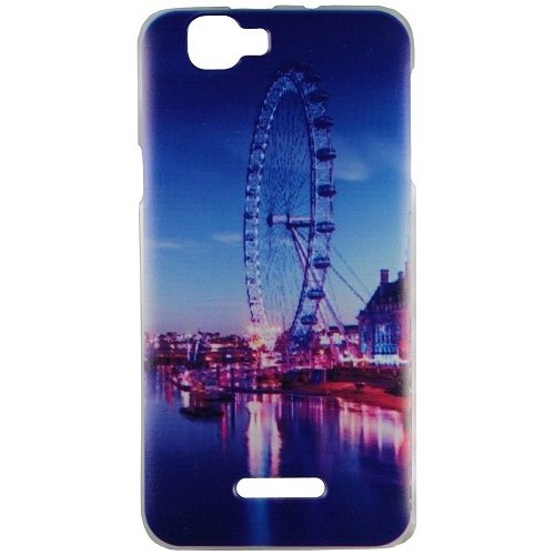 Casotec Clear Edge Print Design Hard Shell Back Case Cover for Micromax Canvas 2 Colors A120