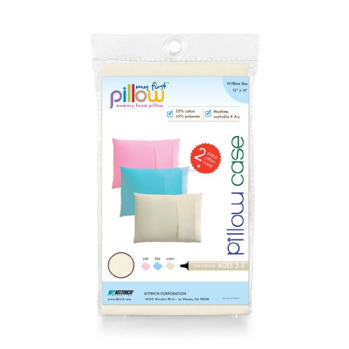 Buy Cheap My First Pillow Set of Two Toddler Pillow Cases, Cream