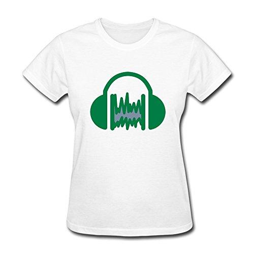 Ptcy Women'S T-Shirt Noise Headphones Us Size M White front-521927