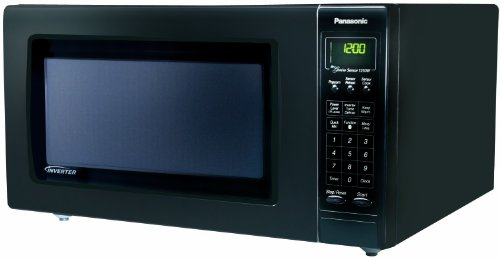 Panasonic NN-H965BF Genius 2.2 cuft 1250-Watt Sensor Microwave with Inverter Technology, Black