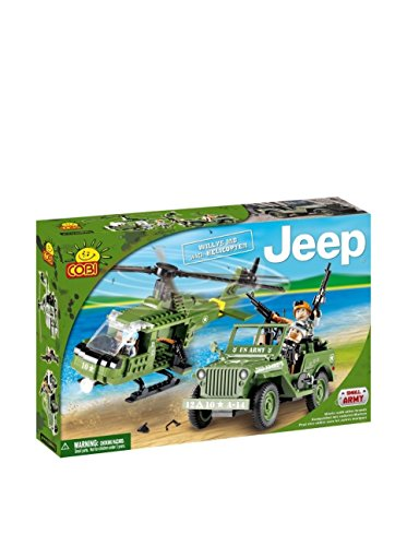 COBI Small Army Jeep Willys MB with Helicopter Building Kit - 1