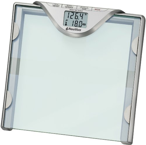 Image of Nautilus Glass Body Fat and Body Water Scale (5598-84192NS)
