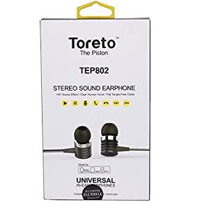 Toreto The Piston high quality stereo earphones with mic for Lava Iris 414