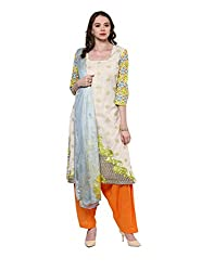 Yepme Women's Multi-Coloured Cotton Semi Stitched Suit - YPMRTS0331_Free Size