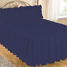 Colcha de Algodón Egipcio de Lujo para Cama Tamaño Doble - 100% Algodón Egipcio, Azul Marino