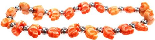 ELEPHANTZ - Orange Charm Childrens ELEPHANT Bracelet by Trrtlz - 1