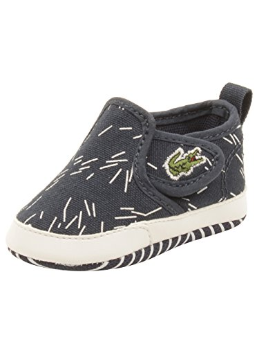 Lacoste Baby Gazon Crib 316 Sneakers in Navy 1 W US