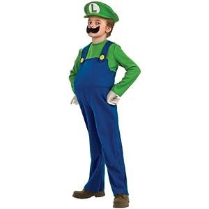 Super Mario Brothers, Deluxe Luigi Costume, Medium