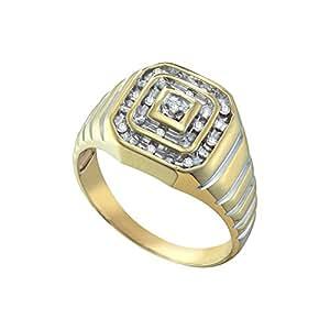 0.10CTW DIAMOND CLUSTER MENS RING Amazon.com